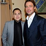 Brad Pitt with Jonah Hill at Premiere of Moneyball to Benefit the Fight Against Cancer with Children's Hospital & Research Center in Oakland and Stand Up to Cancer at the Paramount Theatre of the Arts  94709