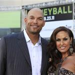 David Justice and wife at Premiere of Moneyball to Benefit the Fight Against Cancer with Children's Hospital & Research Center in Oakland and Stand Up to Cancer at the Paramount Theatre of the Arts  94715