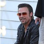 Brad Pitt shoots Cogan's Trade in New Orleans  81128
