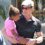 Brad Pitt and Zahara cause riot at American Girl at The Grove 69473