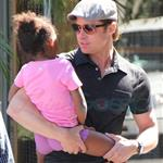 Brad Pitt and Zahara cause riot at American Girl at The Grove 69475