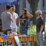 Bradley Cooper Zoe Saldana first shots on the set of The Words in Montreal 86966