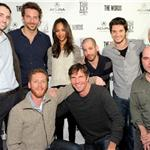 Michael Benaroya, Bradley Cooper, Zoe Saldana, Director Lee Sternthal, Ben Barnes, Scott Shooman of CBS Films, Director Brian Klugman, Dennis Quaid, Brian Klugman and James Babson attend the The Words dinner At Acura Studio  103962
