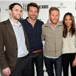 Michael Benaroya, Bradley Cooper, Director Brian Klugman and Zoe Saldana attend The Words dinner at Acura Studio 103965