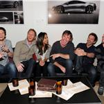 Ben Barnes, Director Brian Klugman, Zoe Saldana, Dennis Quaid, Bradley Cooper and Director Lee Sternthal attend The Words dinner at Acura Studio  103967