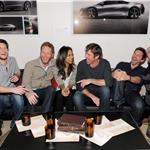 Ben Barnes, Director Brian Klugman, Zoe Saldana, Dennis Quaid, Bradley Cooper and Director Lee Sternthal attend The Words dinner at Acura Studio  103968