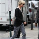 Renee Zellweger in New  York with bowl cut 63039