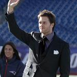 Tom Brady at Foxborough before the Patriots leave for Indianapolis and the Super Bowl  104678
