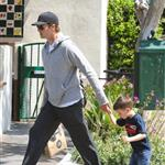 Tom Brady with son Jack at Whole Foods 111226