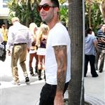 Adam Levine at Laker game  39267