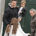 Brad Pitt Angelina Jolie in Venice for Oscar weekend and kids party 56463