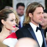 Brad Pitt and Angelina Jolie at the 2012 Golden Globe Awards     103114