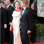 Brad Pitt and Angelina Jolie at the 2012 Golden Globe Awards     103116