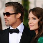 Angelina Jolie and Brad Pitt at the Golden Globes 2011 77002