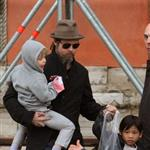 Brad Pitt and Angelina Jolie about and about with the kids in Venice 55819