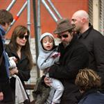 Brad Pitt and Angelina Jolie about and about with the kids in Venice 55821
