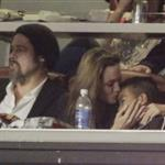 Brad Pitt and Angelina Jolie at the Super Bowl  54690