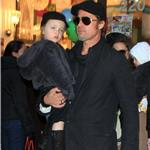 Angelina Jolie and Brad Pitt take twins to art store in New York to help promote The Tourist  74198