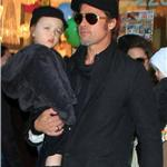 Angelina Jolie and Brad Pitt take twins to art store in New York to help promote The Tourist  74206
