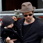 Brad Pitt and Angelina Jolie take Shiloh and the twins out in Venice  56011