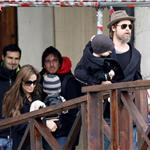 Brad Pitt and Angelina Jolie take Shiloh and the twins out in Venice  56014