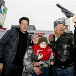 Cory Monteith and Sir Richard Branson in Toronto at the launch of the Raising the Roof campaign in support of homeless kids 50923