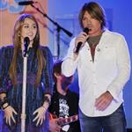 Billy Ray Cyrus with Miley Cyrus in New York to promote Hannah Montana movie  36414