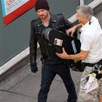 Aaron Paul in London shooting A Long Way Down with Imogen Poots 124785