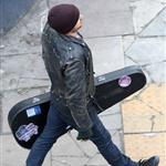 Aaron Paul in London shooting A Long Way Down with Imogen Poots 124786