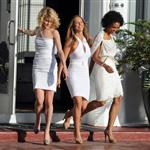 Minka Kelly, Annie Ilonzeh, and Rachael Taylor shoot Charlie's Angels 81691