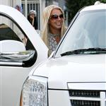 Britney Spears leaving hair salon with new weave in good spirits in preparation for Madonna tour video montage 22234