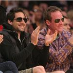 Adrien Brody at Laker game 58750