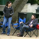 Ben Affleck and Jennifer Garner with daughters at the park  66337