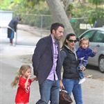 Ben Affleck and Jennifer Garner with daughters at the park  66347