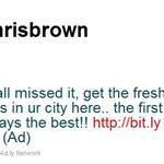 Chris Brown resorts to tweeting for money 65733