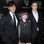 Emily Browning (with Max Irons and Gucci CEO Patrizio di Marco) attend the Gucci Museum opening on last September in Florence 125051