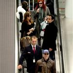 Bruce Willis, Emma Heming and his daughters, Rumer and Tallulah arrive at airport in Paris  99190