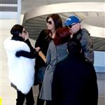Bruce Willis, Emma Heming and his daughters, Rumer and Tallulah arrive at airport in Paris  99196