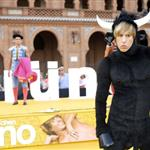 Sacha Baron Cohen as Bruno in a bull costume in Spain  41363