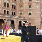 Sacha Baron Cohen as Bruno in a bull costume in Spain  41362