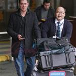 Michael Buble arrives in Vancouver 101002