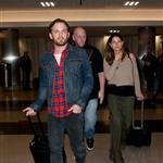 Caleb Followill and pregnant wife Lily Aldridge make their way through LAX 105341