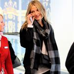 Cameron Diaz arrives in London to visit Paul Sculfor after presenting to Leonardo DiCaprio at Kids' Choice 35704