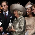 Prince Charles, Prince William, Camilla, Duchess of Cornwall, Catherine, Duchess of Cambridge and Prince Harry leave a Service Of Thanksgiving at St Paul's Cathedral on June 5 116460