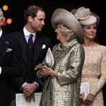 Prince Charles, Prince William, Camilla, Duchess of Cornwall, Catherine, Duchess of Cambridge and Prince Harry leave a Service Of Thanksgiving at St Paul's Cathedral on June 5 116461