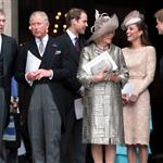 Prince Charles, Prince William, Camilla, Duchess of Cornwall, Catherine, Duchess of Cambridge and Prince Harry leave a Service Of Thanksgiving at St Paul's Cathedral on June 5 116462
