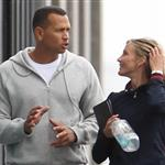 Cameron Diaz gazes adoringly at Alex Rodriguez as they leave the gym in NYC 82928