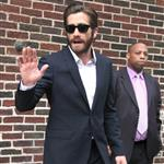Jake Gyllenhaal arrives at The Late Show with David Letterman 124334