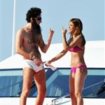 Admiral General Aladeen and Elisabetta Canalis spotted on a luxury yacht at Hotel Du Cap during 65th Annual Cannes Film Festival 114723