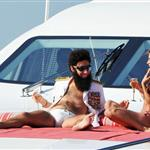 Admiral General Aladeen and Elisabetta Canalis spotted on a luxury yacht at Hotel Du Cap during 65th Annual Cannes Film Festival 114725